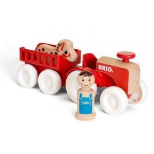 Image de Brio 30265 - Tracteur et remorque en bois