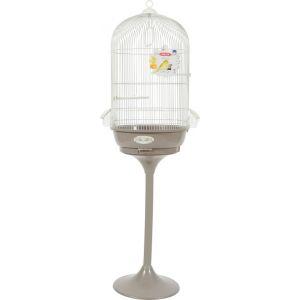 Zolux Cage arabesque Leonie 50 cm avec pied Taupe