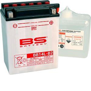 BS Battery Batterie BS BB14L-B2 conventionnelle livrée avec pack acide