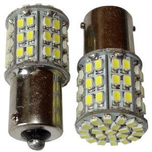 Aerzetix : 2x ampoule 24V P21W R10W R5W 64LED SMD blanc pour camion semi-remorque porte de garage portail