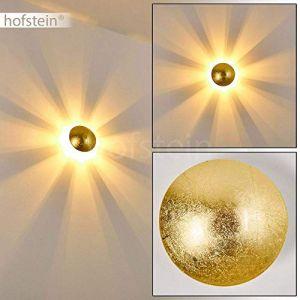 Hofstein Applique murale Mezia en métal doré pour ampoules G9 max. 28 Watt, compatible ampoules LED