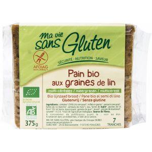 Ma vie sans gluten Pains Bio aux graines de Lin 375gr