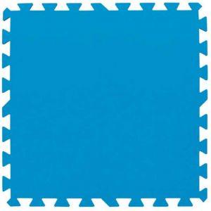 Bestway Lot de 9 tapis de protection pré formés - 50 x 50 cm - bleu