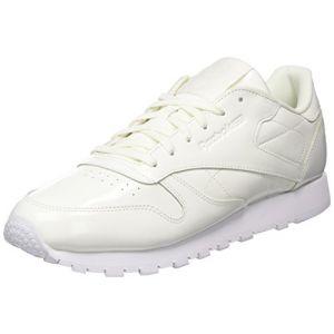 Reebok Cl LTHR Patent, Chaussures de Fitness Femme, Blanc (White 000), 37 EU