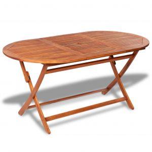 VidaXL Table de salle à manger d'extérieur ovale en bois d'acacia