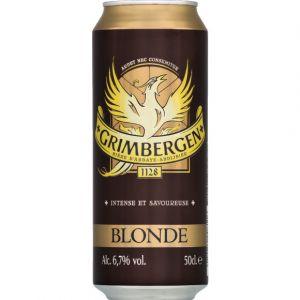 Grimbergen Bière blonde 6,7%Vol. - La canette de 50cl