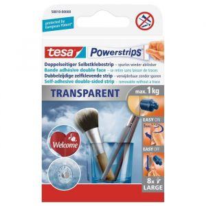 Tesa Strip transparent large Powerstrips t 810-00000 (L x l) 50 mm x 20 mm transparent 1 paquet(s)