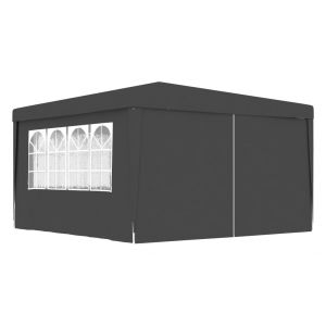 VidaXL Tente de réception et parois latérales 4x4 m Anthracite 90 g/m²