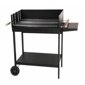Somagic Galicia - Barbecue à charbon cuve en acier sur chariot 2 grilles
