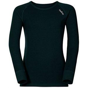 Odlo Crew Neck Warm - T-shirt - manches longues - Enfant - Noir (black) - FR: 10 ans (Taille Fabricant: 140 cm)