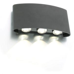 Arum Lighting Applique murale LED extérieur SIX Blanc naturel
