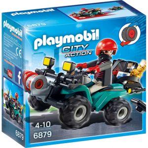Playmobil 6879 City Action - Quad avec treuil et bandit