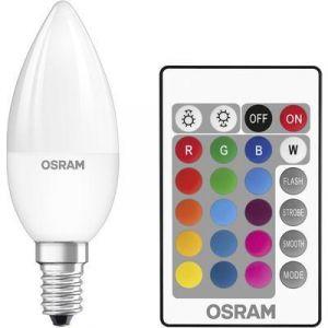 Osram Ampoule LED Retrofit RGBW Flamme Télécommande E14 4.5W (25W) A