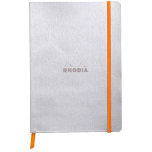 Rhodia 117401C Rhodiarama argent - Carnet souple 14,8 x 21 cm 160 pages