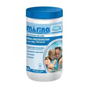 Marina Galets 200g de chlore pour piscine 25m3 - 1,2 kg