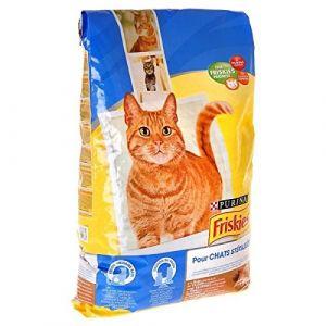 Friskies Croquettes a la dinde et légumes spéciales chat stérilisé - 7,5kg