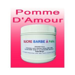 Azur Confiserie Sucre à barbe à papa Pomme d'Amour (500g)