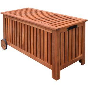 VidaXL Coffre de jardin en bois 118 x 52 x 58 cm