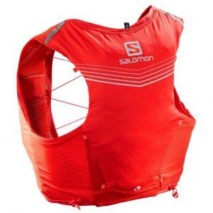 Salomon ADV SKIN 5 SET Sac hydratation / Gourde Rouge - Taille S