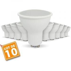 Arum Lighting 10 pcs pack - 7W AMPOULE LED GU10 equivalent 50W Blanc naturel