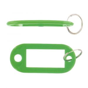 Safetool Porte-clés avec étiquette - vert - sac de 20