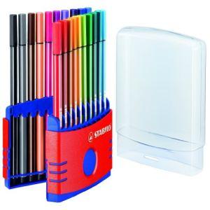 Stabilo Etui de 20 feutres à dessin Pen 68 Color Parade pointe ogive 1.0 mm