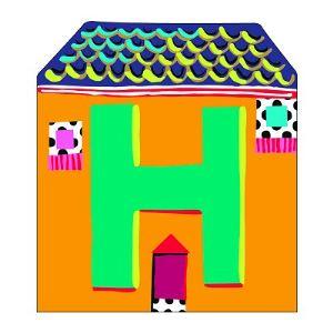 Djeco Lettre petite maison en bois : H
