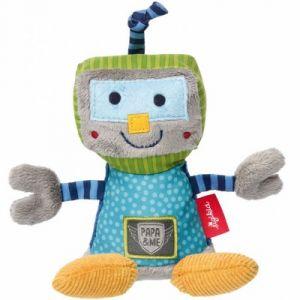 Sigikid Peluche hochet robot Papa & me (16 cm)