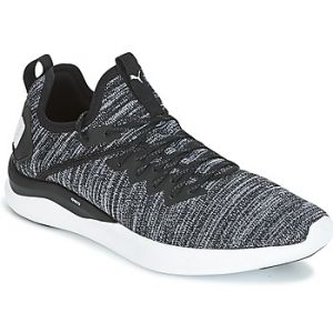 Image de Puma Ignite Flash Evoknit, Chaussures de Cross Homme, Noir Black-Asphalt White, 45 EU
