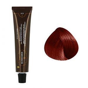 Kin Cosmetics Coloration permanente sans ammoniaque aux 5 huiles 7.66 : Blond Moyen Rouge Intense Sans ammoniaque, Crème 60ml