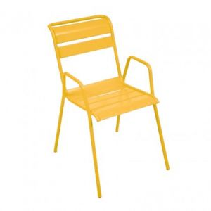 Fermob Monceau - 2 chaises bridge de jardin empilables en acier