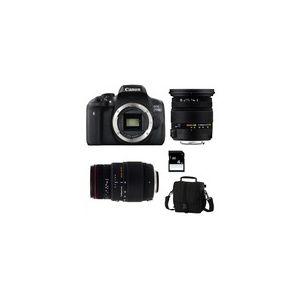 Canon EOS 750D (avec 2 objectifs Sigma 17-50mm et Sigma 70-300mm)