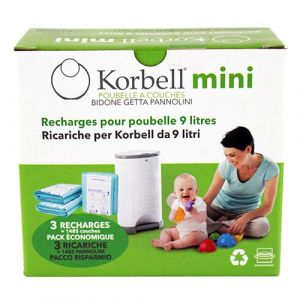 Korbell Recharge 3 packs pour poubelle 9 L
