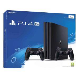 Sony PS4 Pro 1 To Noire avec 2 manettes + Qui Es-Tu? (voucher)