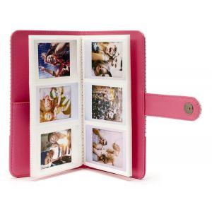 Fujifilm Instax Mini 9 Striped Album pink à rayures 108 photos