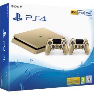Sony PS4 Slim Or 500 Go + 2ème manette Dual Shock