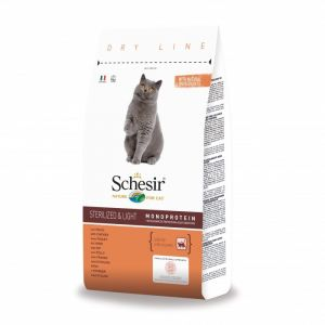 Schesir Croquettes Sterilized & Light au Poulet pour Chat 10Kg