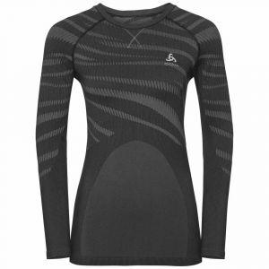 Odlo T-Shirt ML Performance Blackcomb Black Concrete Grey Sous-vêtements techniques