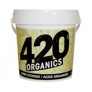 420 Organics Acide citrique organique 250g, abaisse le ph