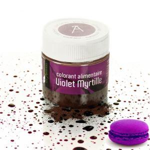 Les Artistes Paris Colorant alimentaire en poudre violet myrtille (10g)