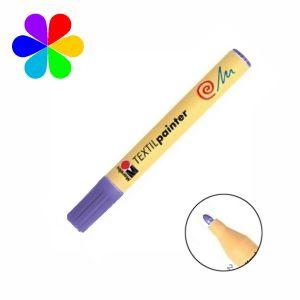 Marabu 011703251 - Marqueur pour tissu Textil Painter, violet, pointe ogive 2-4 mm
