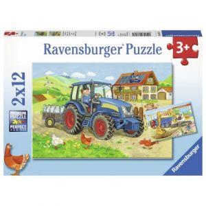 Ravensburger 2 Puzzles - Tracteur à la Ferme