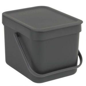 Brabantia Poubelle manuelle Waste Bin Sort & Go 6L Grey