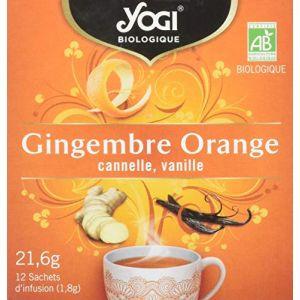 Yogi Tea Infusion gingembre, orange, cannelle, vanille - Les 12 sachets de 1,8g
