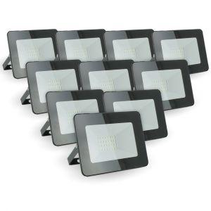 Eclairage design Lot de 10 projecteurs 20W IP65 extérieur   blanc-chaud-2700k