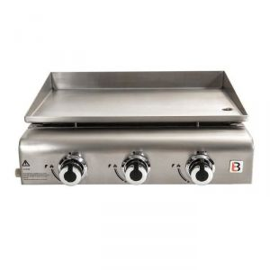 Brasero Grill FAV9760014 - Plancha à gaz 3 brûleurs à poser en inox