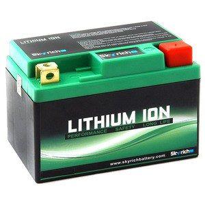 Skyrich Batterie moto Lithium Ion YT12B-BS - La batterie lithium YT12B-BS / HJT12B-FP-S / YT14B-BS / YB16AL-A2 Sans Entretien. Dimension batterie : L 150mm W 65mm H 130mm. Borne : + a gauche, convient parfaitement a tous les types de moto-quad-sco