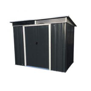 Yardmaster Abri de jardin en métal 3,78 m² - Gris anthracite