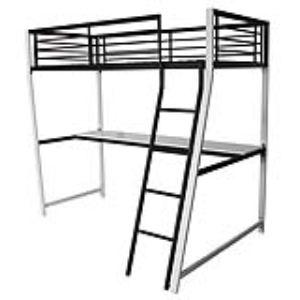 lit mezzanine 90x190 comparer 969 offres. Black Bedroom Furniture Sets. Home Design Ideas