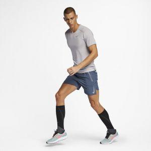 Nike Haut de running à manches courtes Rise 365 Homme - Gris - Taille M